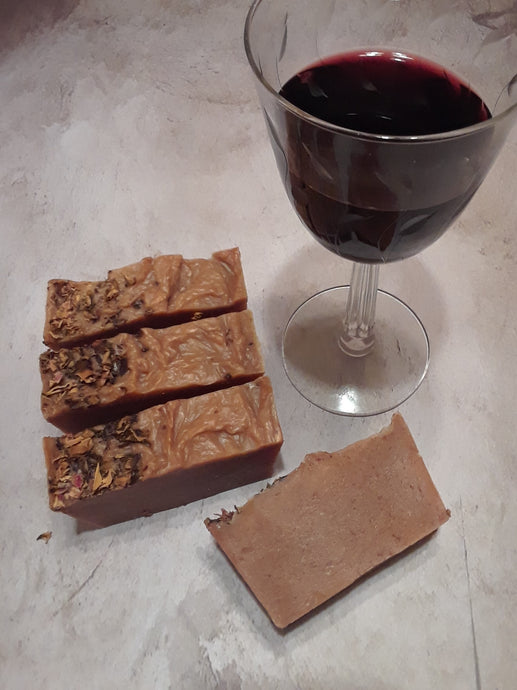 Wine. Roses. Chocolate. soap