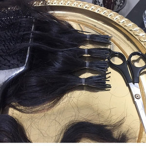 Learn how to make the I-Tip strands yourself using wefted bundles of any texture.   Also, take advantage of your new skill and earn an additional stream of income by offering your services to other stylists!