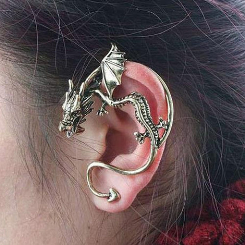 Gothic Style Dragon Shape Earring