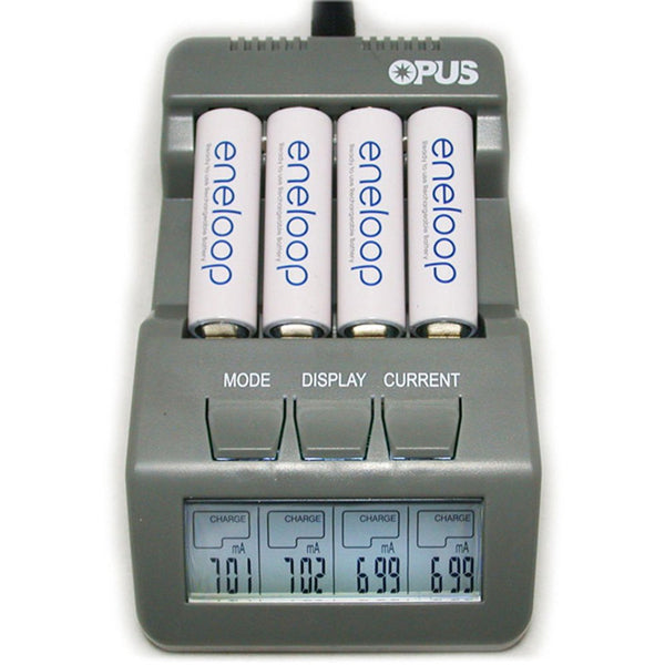 Opus BT-C700 Intelligent 4 Channels LCD Charger for NiCd NiMH Battery - US Plug