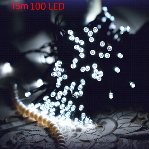 VCT - SIC056 Christmas Tree Decors 15m 100 LED Solar String Light Xmas Ornament New Year Decoration