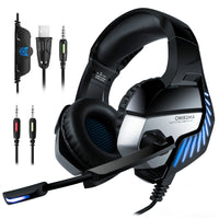 ONIKUMA K5 PRO LED Stereo Bass Surround Gaming Headset with Mic for PS4/PC