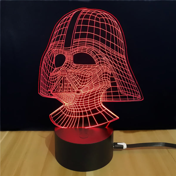 Shining Td054 Star Wars Darth Vader Shape 3D LED Lamp