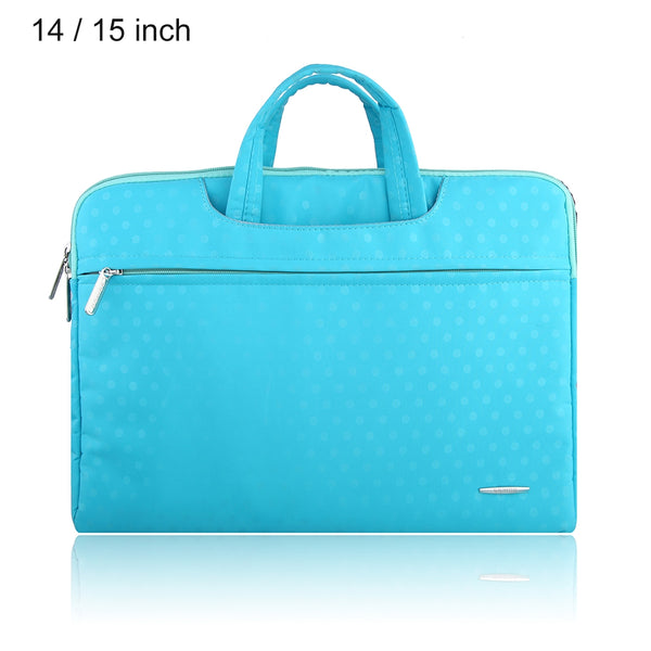 SSIMOO S818 2 in 1 Dot Pattern Laptop Bag Tablet Zipper Pouch Sleeve for MacBook 14 / 15 inch