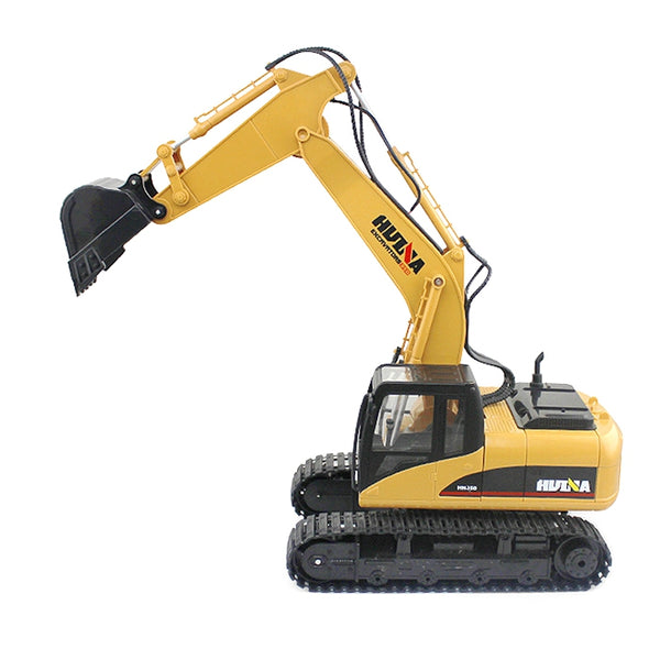 HUINA 1550 1:14 2.4GHz 15CH RC Alloy Excavator RTR with Independent Arms Programming Auto Demonstration Function