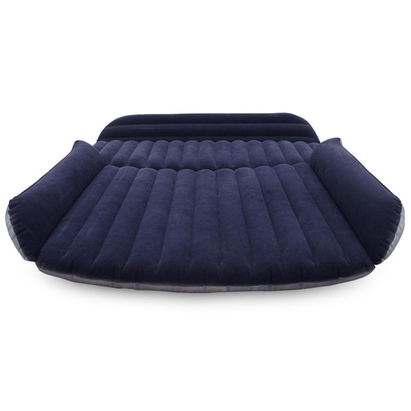 Drive Travel Car Air Inflation Bed SUV Back Seat Mattress Camping Companion Flocking Cloth