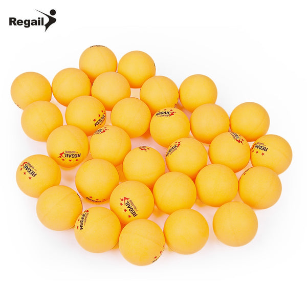 REGAIL 30pcs 3-star Practice Table Tennis Ping Pong Ball