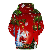 Christmas Tree Santa Jingle Bells Christmas Hoodie