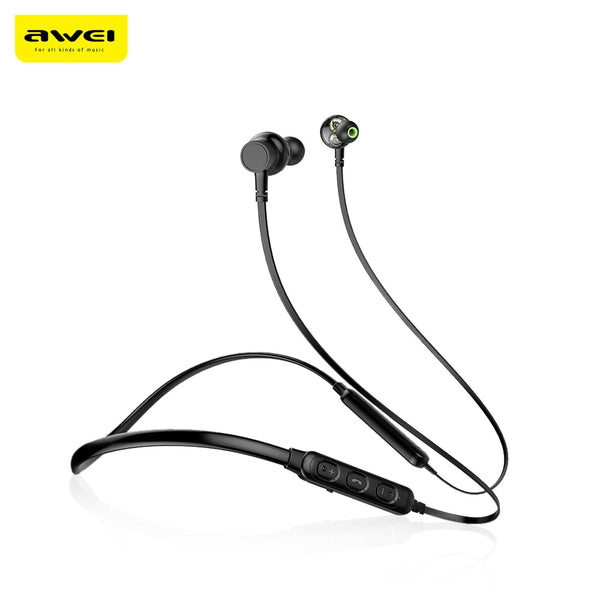Awei G20BL Dual Drivers Wireless Bluetooth Headphones Neckband Sport Earbuds