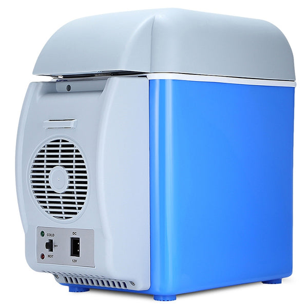 Great Cooling System / Lightweight Design / Auto Magnetic Lock Portable Car Hot / Cold Refrigerator with Three Holes 7.5L
