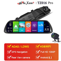 "WHEXUNE New 2019 Car DVR GPS Navigator Camera 4G 10""Android Stream Media Rear View Mirror FHD 1080P GPS Mirror Dash Cam Recorder"
