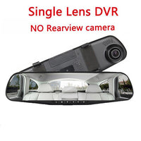 4.3 inch Car DVR Camera White screen Rearview Mirror Auto DVRs Dual Lens Recorder Video Registrator HD 1080p Camcorder Dash Cam