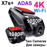 4K 2160P Built in GPS WiFi ADAS Car DVR Recorder Dash Cam Dual Lens Vehicle Camera Camcorder
