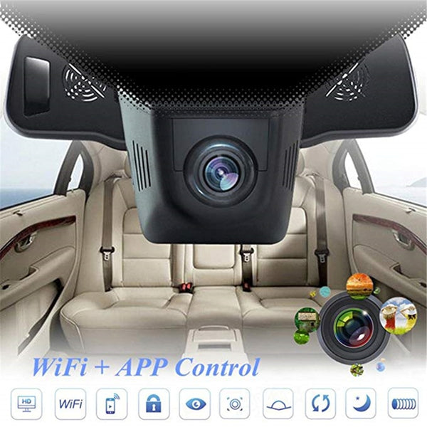 Full HD 1080P Car DVR Built-in WiFi 160 Degree Wide Angle Dashboard Camera,Vehicle Dash Cam with G-Sensor,Loop Recording