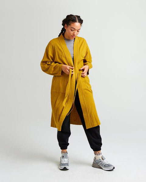 Richer Poorer - Golden Verde Robe Coat
