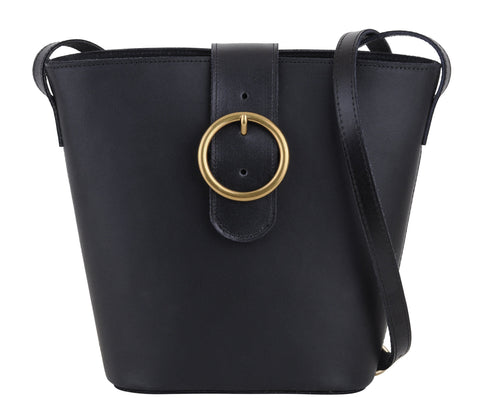 Most Wanted - The Shoulder Bucket Bag Black