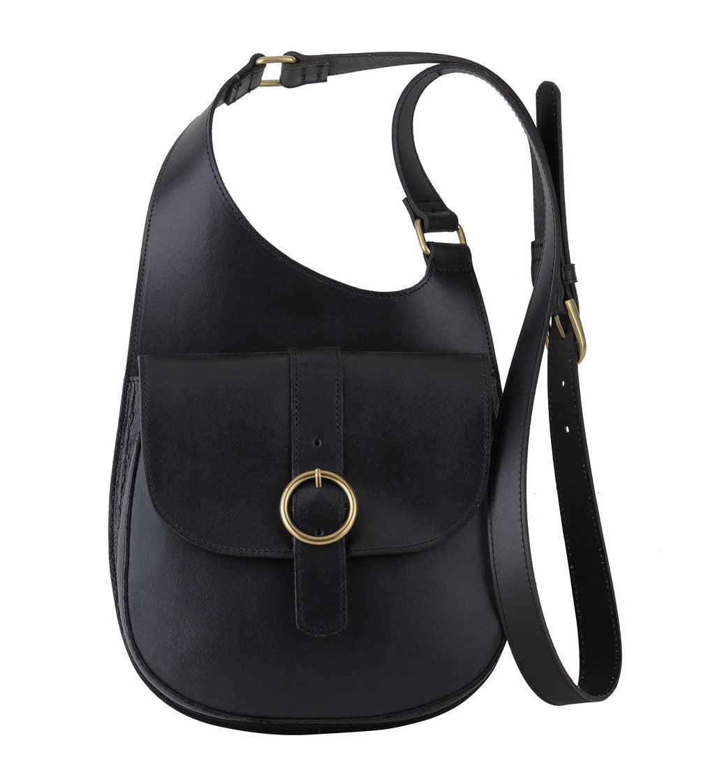 Most Wanted - Classic Saddle Bag Crossbody Black