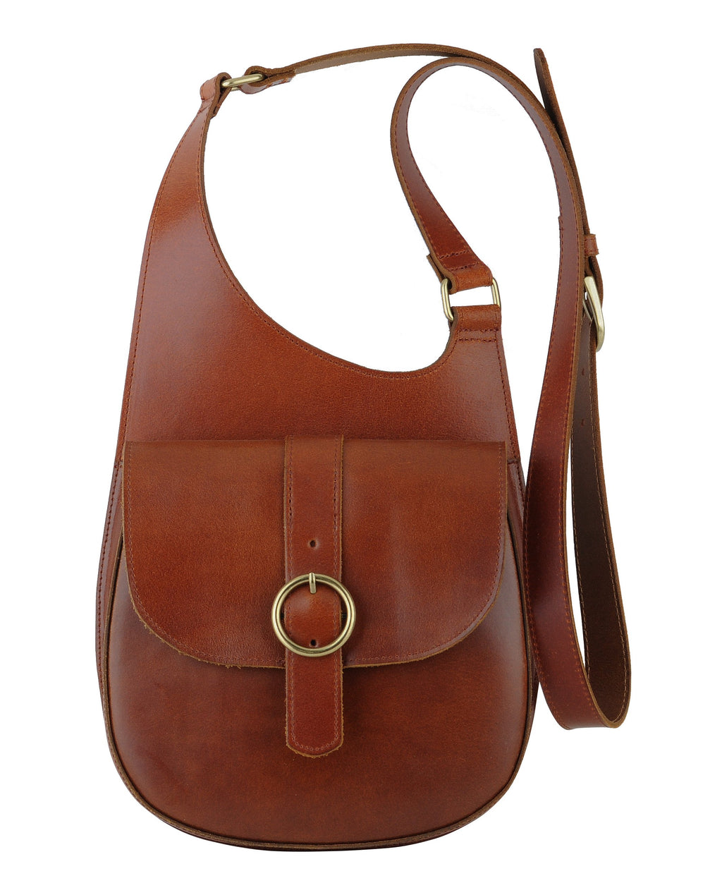 Most Wanted - Classic Saddle Bag Crossbody Tan