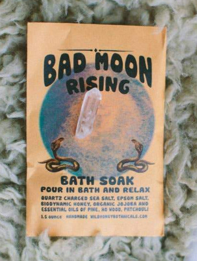 Wild Yonder Botanicals - BAD MOON Bath Salt Soak