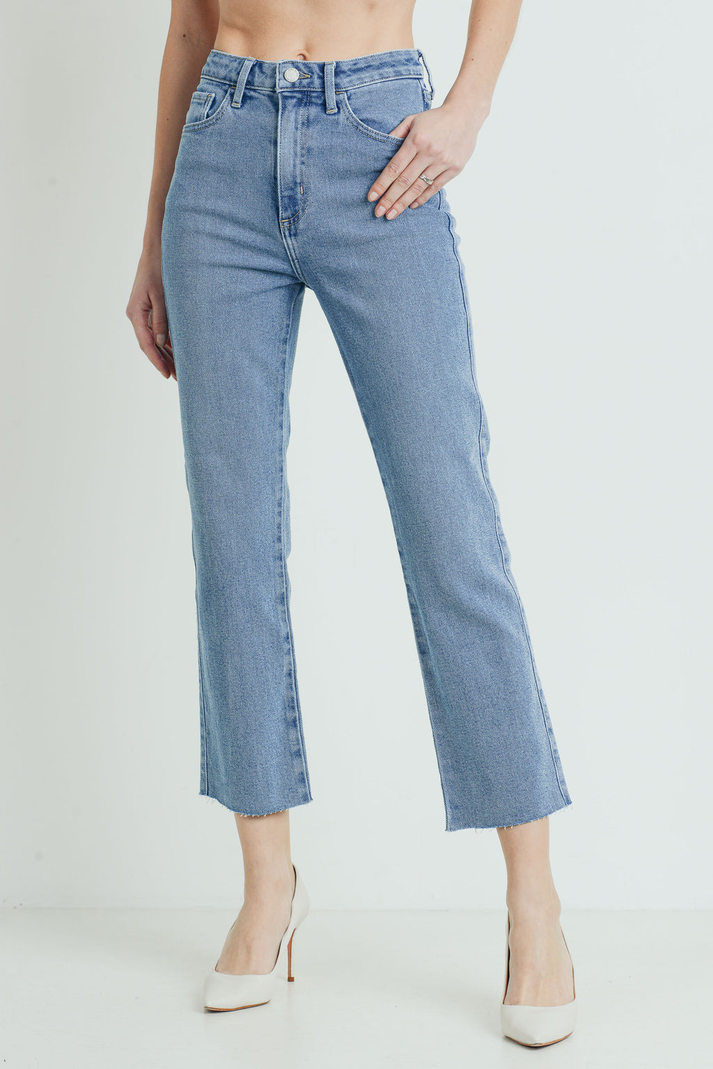 Just Black Denim - High Rise Classic Straight