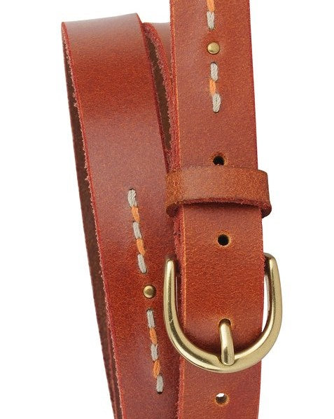 Most Wanted - Studded + Stitched Skinny Belt