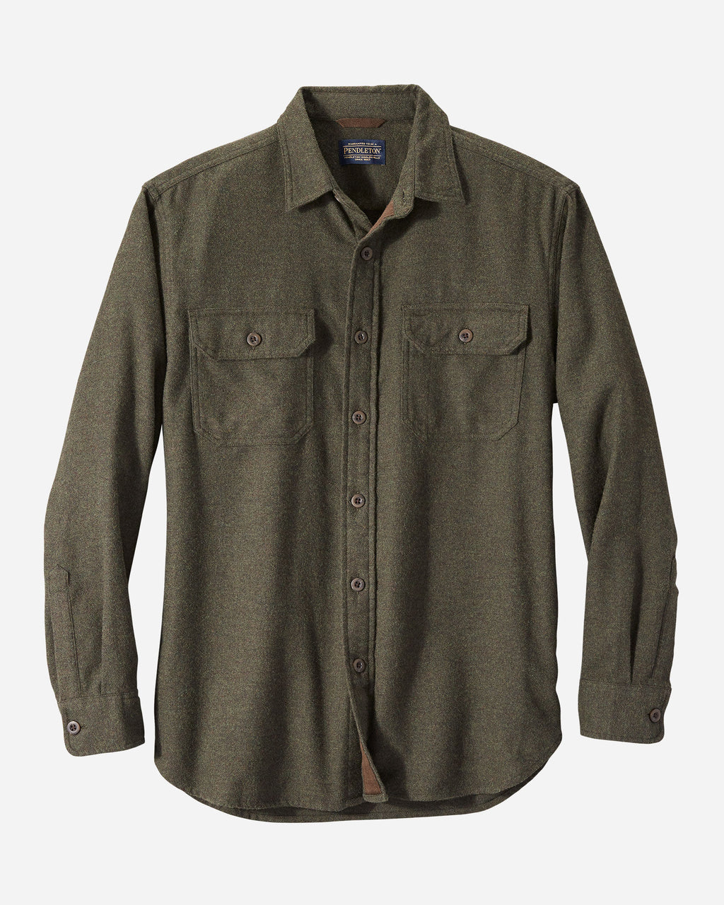 Pendleton - Double Brushed Burnside Flannel Olive