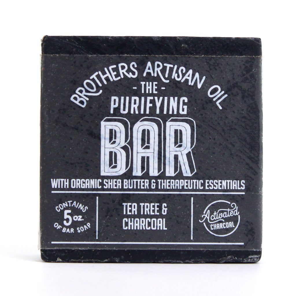 Brothers Artisan Oil - Tea Tree/Charcoal Soap Bar