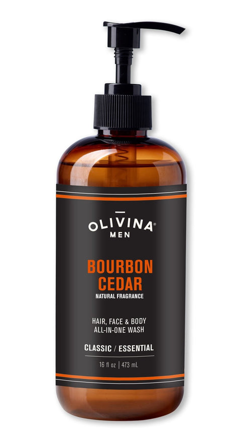 Olivina - Bourbon Cedar Hair Face & Body Wash