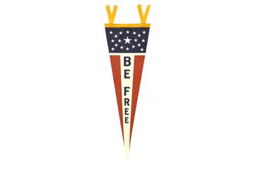 Oxford Pennants - Be Free Pennant