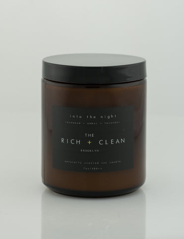 Rich & Clean - Into The Night 7oz Candle