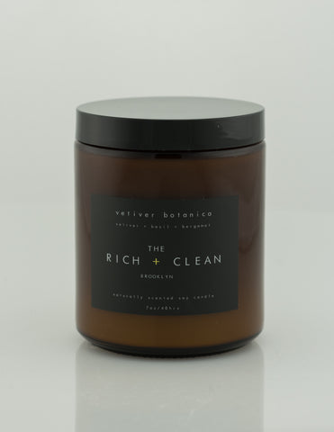 Rich & Clean - Vetiver Botanica 7oz Candle