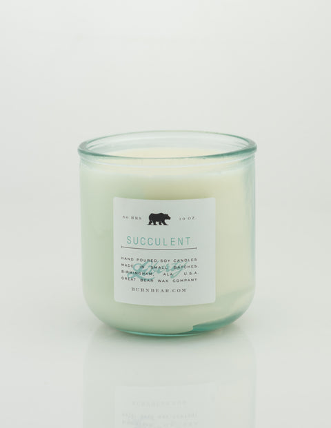 Great Bear Wax Co - Succulent 10oz Candle