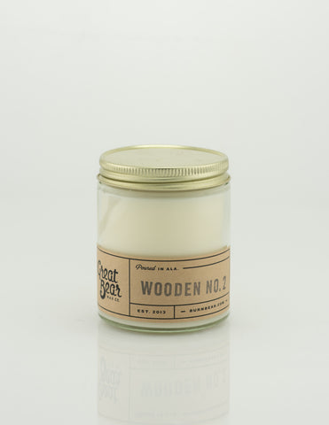 Great Bear Wax Co - Wooden No.2 6oz Candle