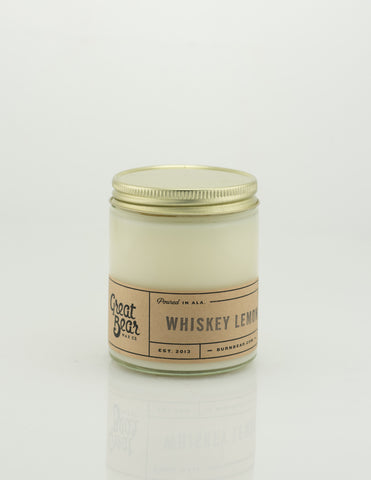 Great Bear Wax Co - Whiskey Lemon 6oz Candle