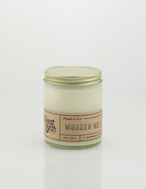 Great Bear Wax Co - Wooden No.1 6oz Candle