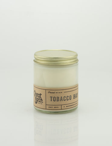 Great Bear Wax Co - Tobacco Bay 6oz Candle