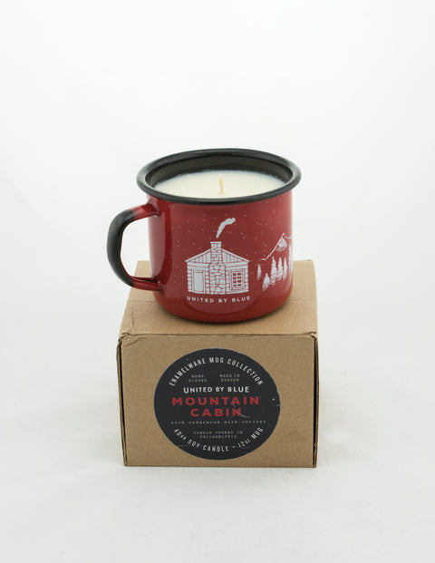 United By Blue - Enamal Steel Mug Candle Mountain Cabin