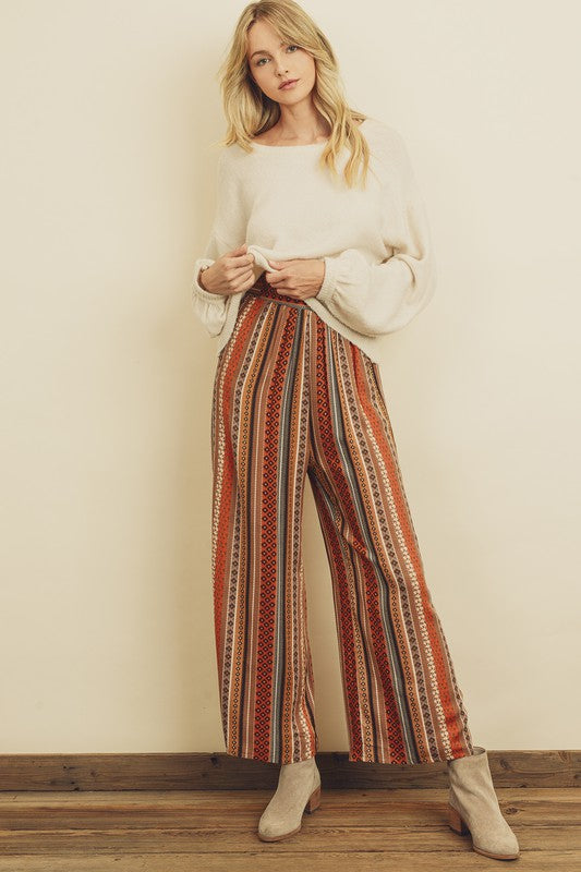 Dress Forum - Printed Wide Leg Pant