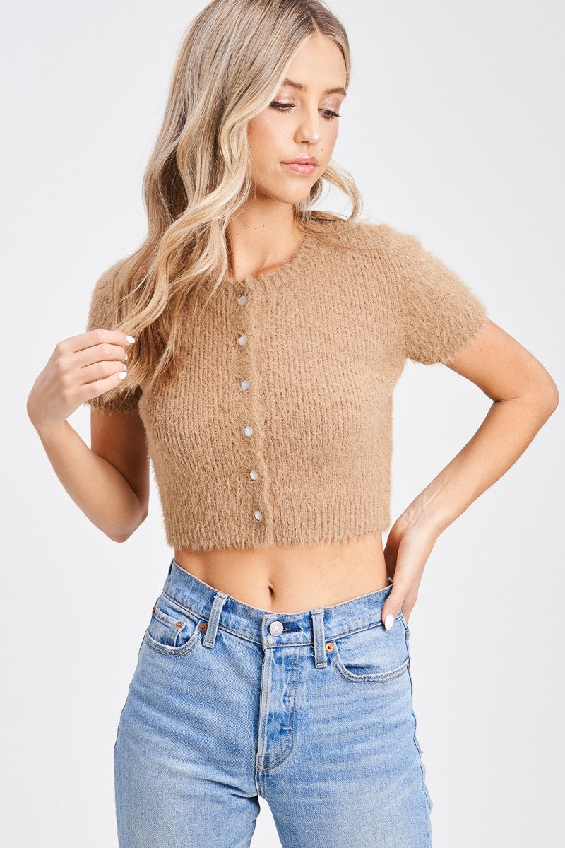 Emory Park - Button Down Fuzzy Top