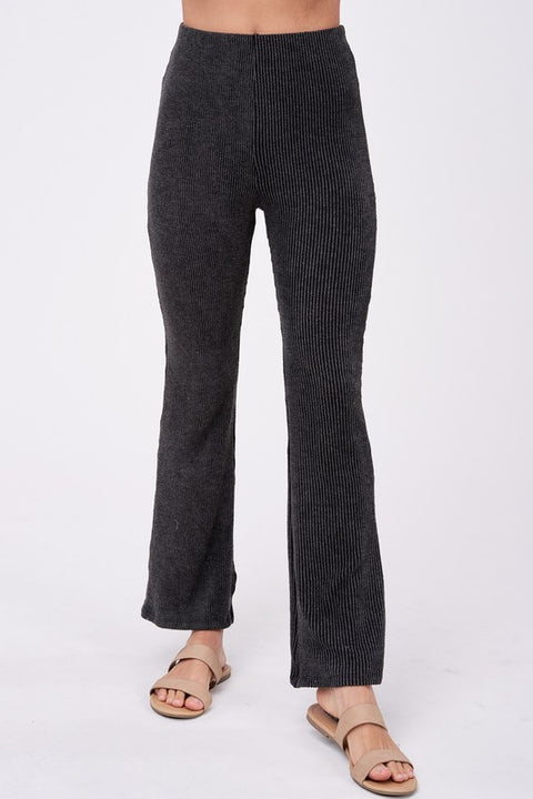 Emory Park - Ribbed Knit High Waisted Pants