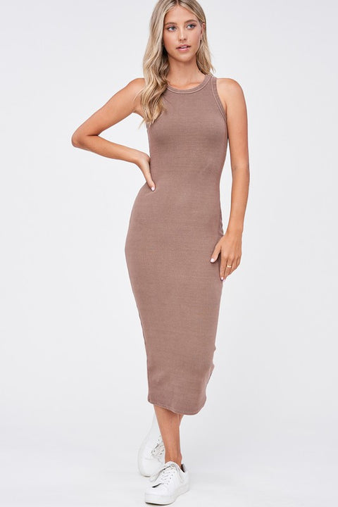Emory Park - Garment Dyed Ribbed Maxi Dress