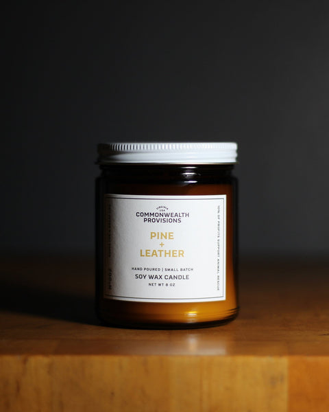 Commonwealth Provisions - Pine Leather Candle