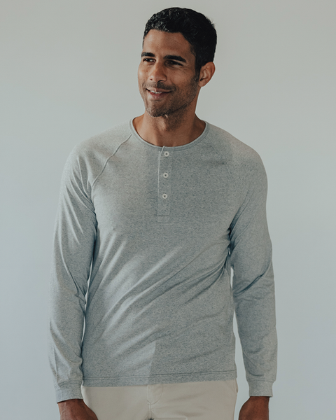 Normal Brand - LS Active Puremeso Henley (3 Colors Available)