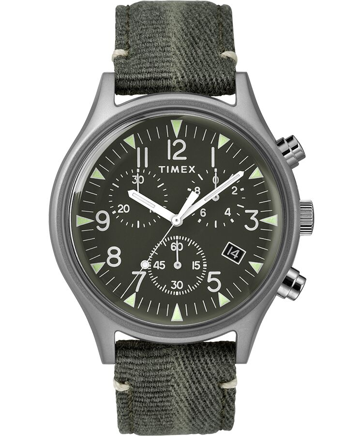 Timex - MK1 Steel Chronograph 42mm Fabric Strap Watch