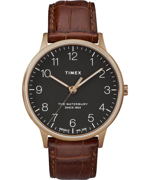 Timex - Waterbury Classic 40mm Leather Strap Watch