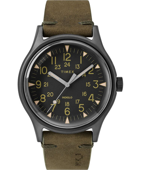 Timex - MK1 Steel 40mm Leather Strap Watch