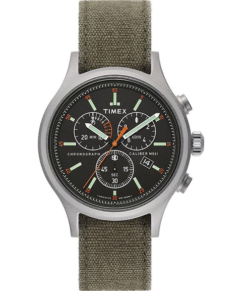 Timex  - Allied Chronograph 42mm Stonewashed Fabric Strap Watch