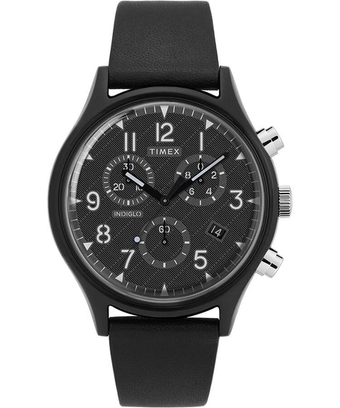 Timex - MK1 Supernova Chronograph 42mm Leather Strap Watch