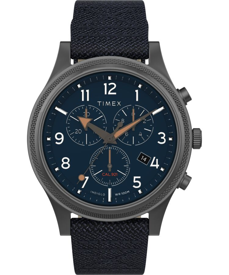 Timex - Allied LT Chronograph 42mm Fabric Strap Watch