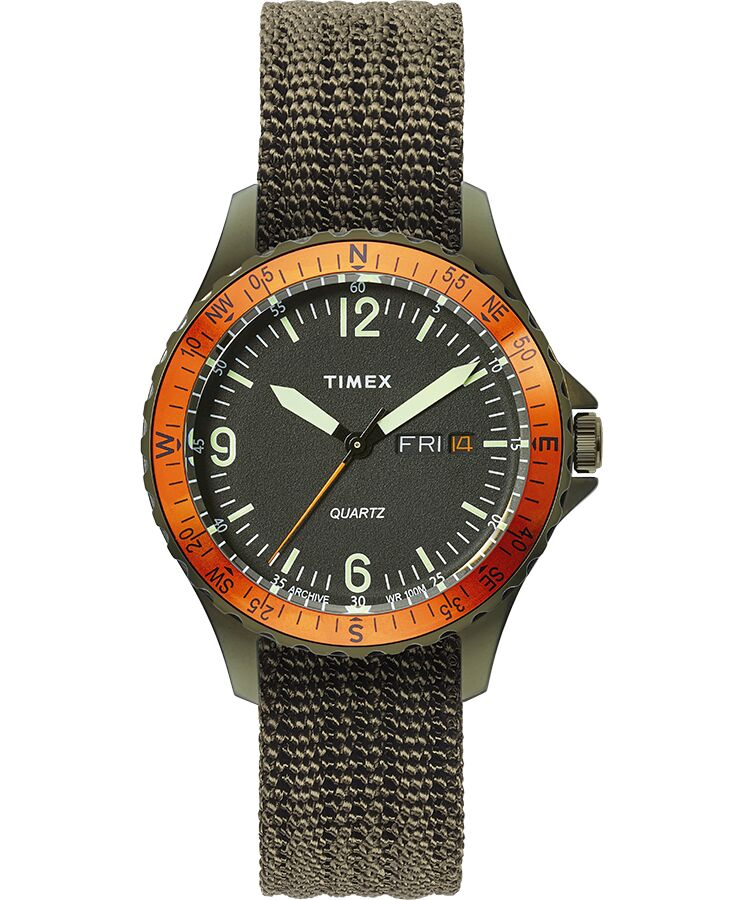 Timex - Navi Land 38mm Fabric Strap Watch
